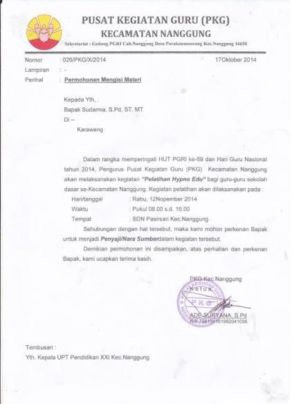 surat Khaerudin Nanggung Bogor